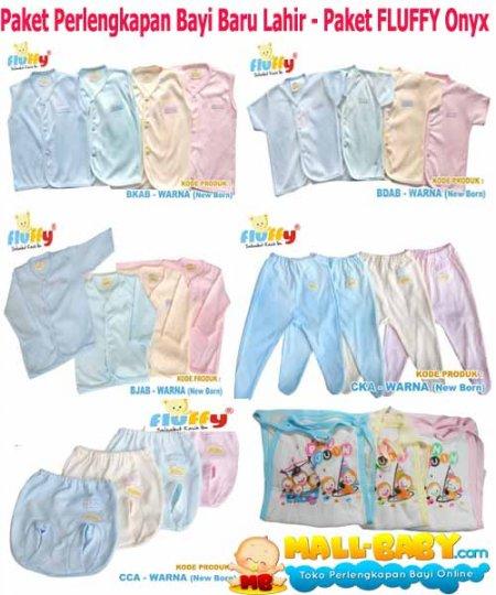 Paket Baju Bayi Newborn Fluffy